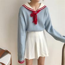 Для женщин свитеры для японский Kawaii Ulzzang Винтаж сладкий колледж Ветер с свитер женский корейский Harajuku костюмы
