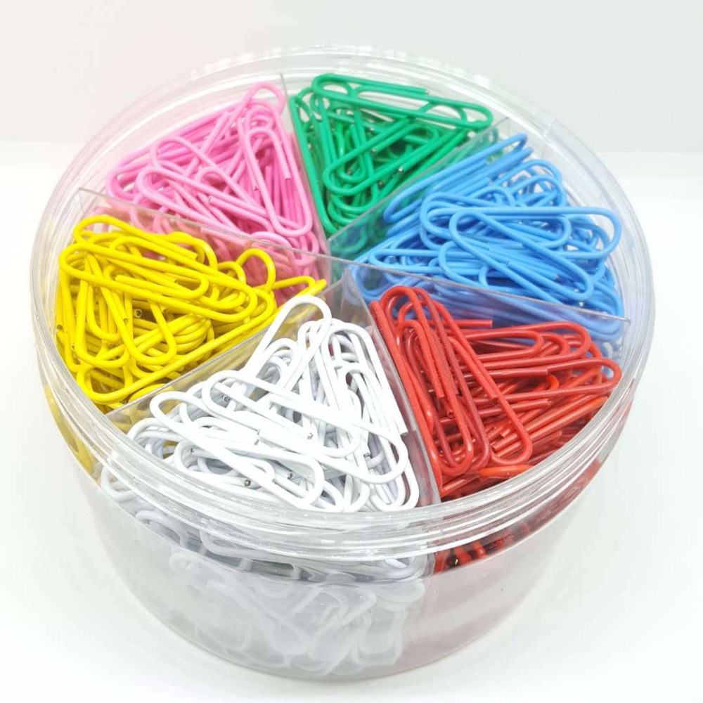 500pcs/box Colour Bookmark Planner Paper Clip Metal Material Bookmarks for Book Stationery School Office Supplies