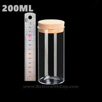 30 200ML Transparent Test Tube Of High Borosilicate Glass Storage Jar Tea Tea Fruit Storage Tank
