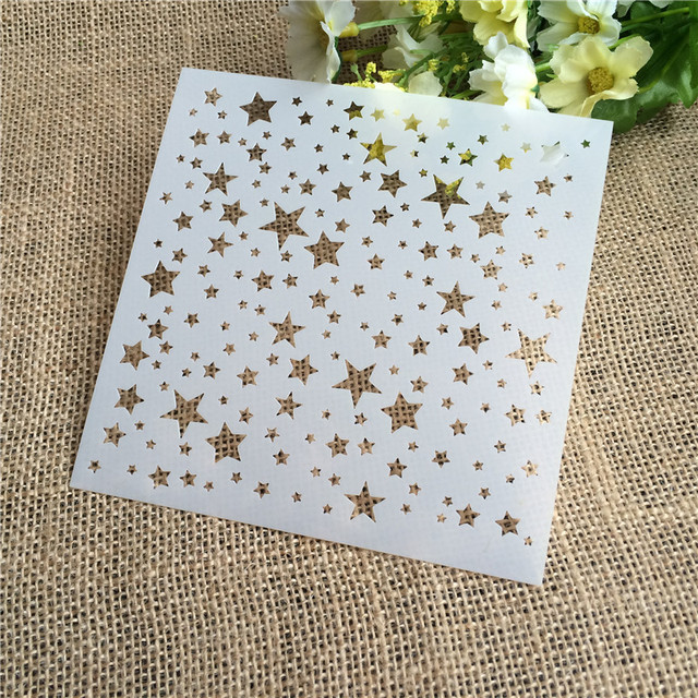 Five Star Layering Stencils for DIY Scrapbooking/photo album Decorative Embossing DIY Paper Cards Crafts