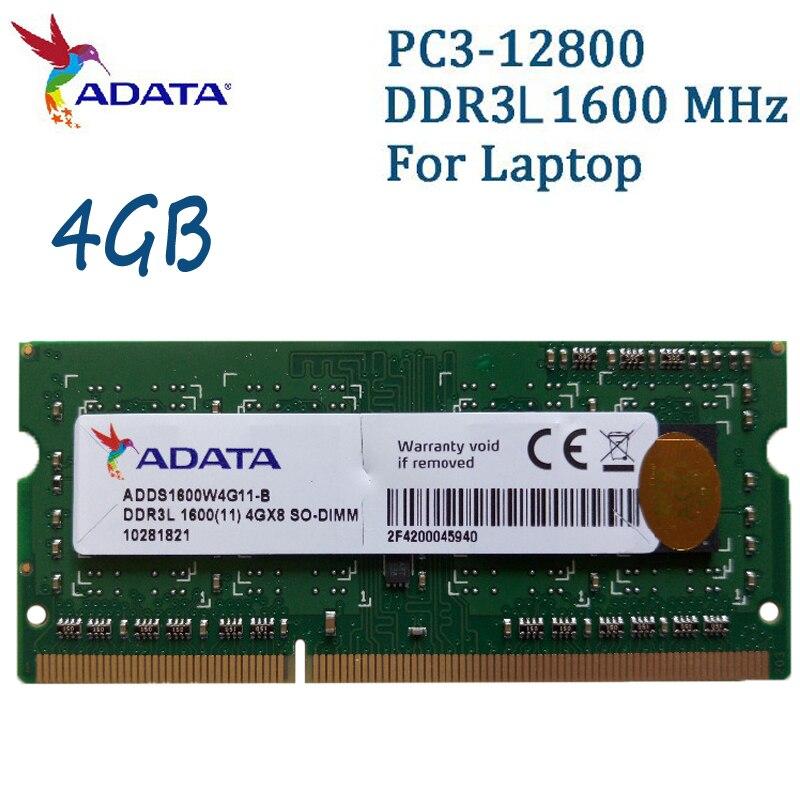 купить ADATA Laptop Memory DDR3L 1600MHz PC3-12800 4GB 8GB Notebook Ram Compatible With DDR3 1333MHz 4G For Lenovo SAMSUNG Dell HP SONY по цене 1884.89 рублей