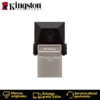 Kingston Technology DataTraveler DTDUO3 64GB microDuo 3.0 USB 3.0 (3.1 Gen 1) USB Type A connector Swivel, Black Flash drive