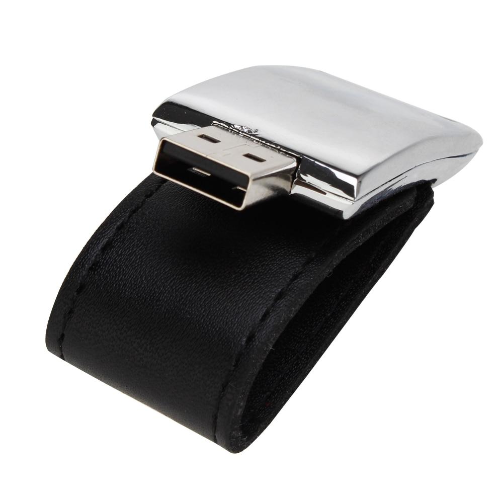 Leather usb flash drive 32gb 16gb metal keychain pen drive 128gb 64gb 8g 4g pendrive portable flash Memory stick free print LOGO (6)