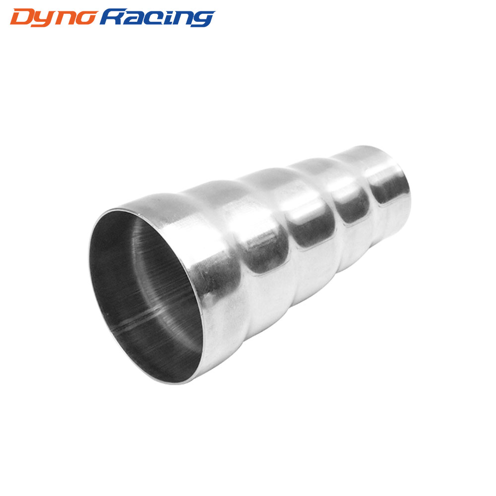 Universal 201 Stainless Steel Exhaust 5 Step Reducer Adapter Connector Tube Pipe Cone