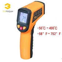 BeHelper Non Contact Digital Display Laser Infrared Thermometer 50 400C 58 752F C F Selection Handheld