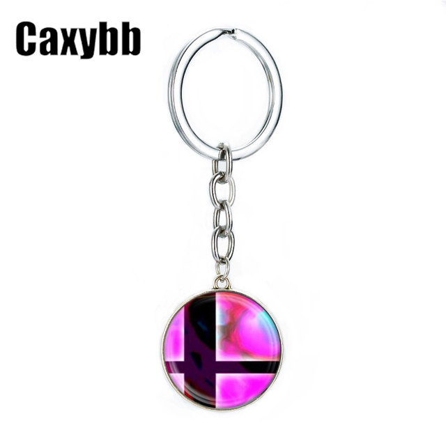 Caxybb Vintage Super Smash Bros Ball red and Black Key key chain For Boys Students Cartoon Jewelry Key Rings Jewelry gifts G32 1