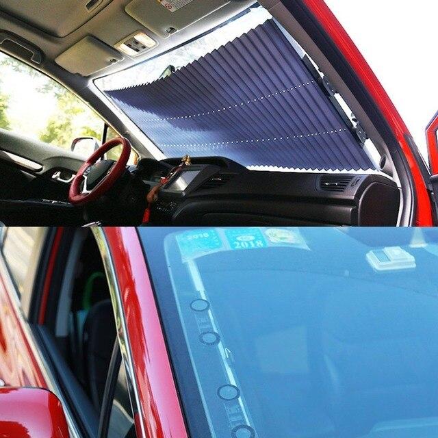 bb3ea933110 Retractable Car Windshield Sunshade Sun Insulation Curtain UV Protection  Sun Shade Cover Adjustable Insulation Shade-in Windshield Sunshades from ...
