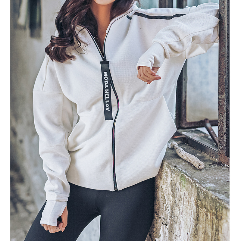HY SEVEN Long Sleeve Zipper Windproof Sports Jacket For Women Female Thick Autumn Hooded Coat Tops Sportswear For Fitness stylish hooded long sleeve drawstring mid length jeans coat for women