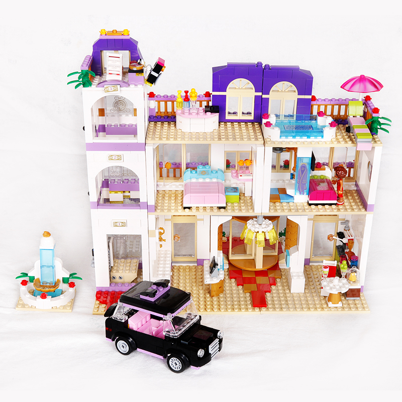 Hot My Good Friends Girls Clubs Heartlake Grand Hotel Building Block Andrea Stephanie Figures Cars Bricks Toys for Kids Lepins hot city series aviation private aircraft lepins building block crew passenger figures airplane cars bricks toys for kids gifts