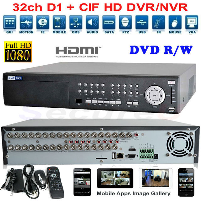 US $579 9  Best 32ch H 264 HD standalone DVR 960H high definition real time  recording WIFI 3G audio alarm Function PTZ HDMI DVR NVR HVR-in