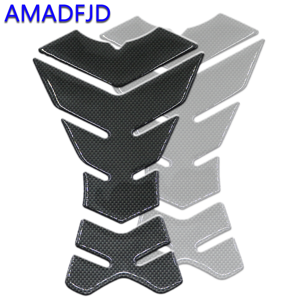 AMADFJD 3D Motorcycle Sticker Carbon Fiber Tankpad Stickers On Motorcycle Tank Pad Pit Bike Protector Motorbike Sticker Decals