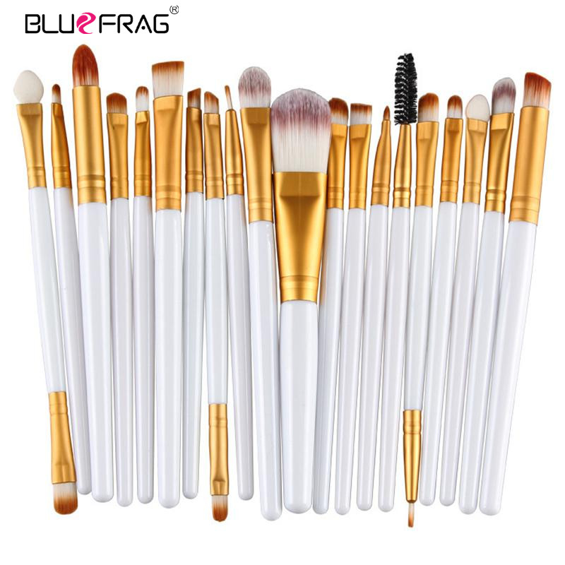 цены 20pcs Eye Makeup Brushes Set Eyeshadow Blending Brush Powder Foundation Eyeshadading Eyebrow Lip Eyeliner Brush Cosmetic Tool