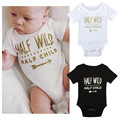 2016 Fashion Printing Blank Gold Character 1 set Birthday Baby Body Unisex Cotton Short Sleeve O-neck Clothing Children's Clothi
