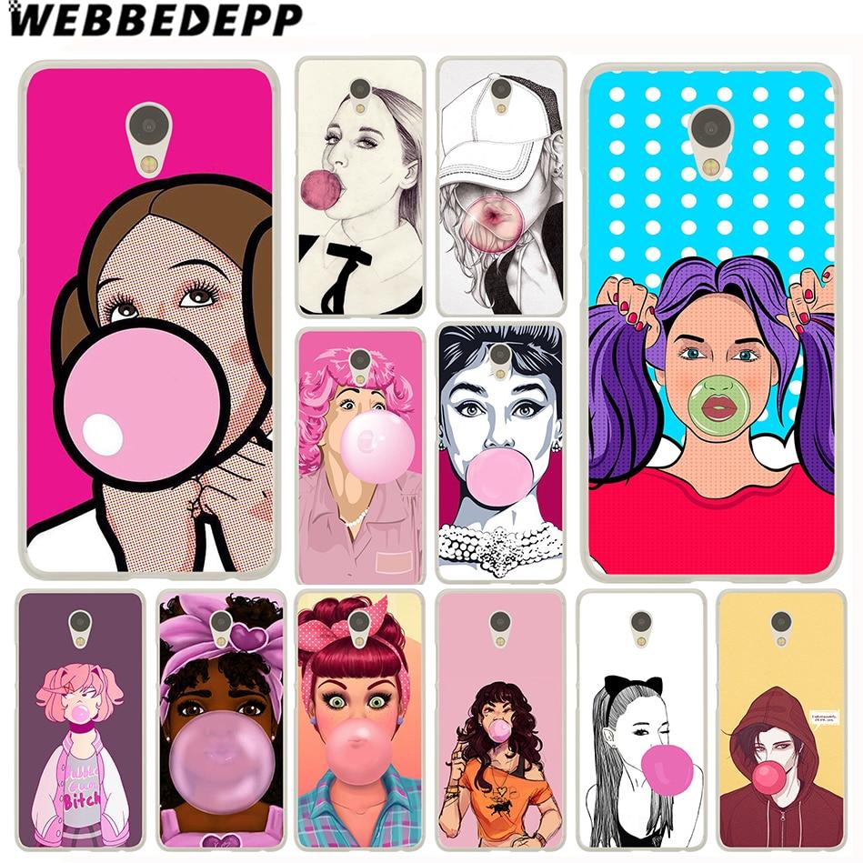 WEBBEDEPP Bubble Gum Bubblegum Case for Meizu M3 M3S Mini M5C M5S M5 M6 Note M6S Cover