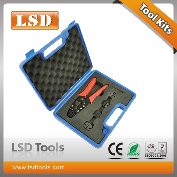 HS0725-5D1 combination tool kits with terminal crimping toos and four replaceable dies crimping tool set