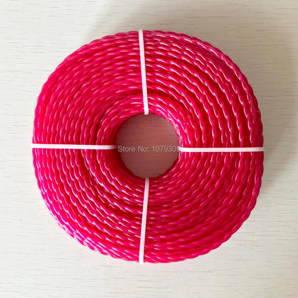Grass Trimmer Line 3.0mm Diameter 380G twist for Brush Cutter Power Nylon Line Grass Cutting weed cutter grass trimmer line 3 0mm diameter 500g round for brush cutter power nylon line grass cutting