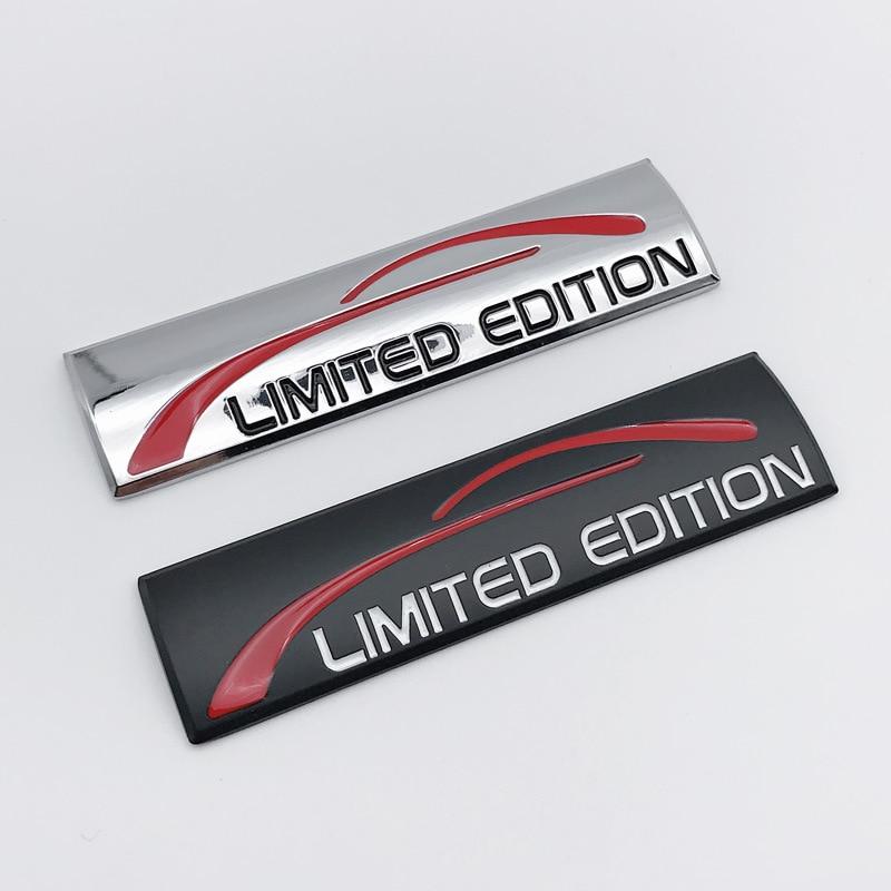 3D Metal LIMITED EDITION Emblem Badge Car Sticker Decal For Audi Chevrolet Golf Polo Opel Toyota Mazda Nissan Hyundai Car Stylin