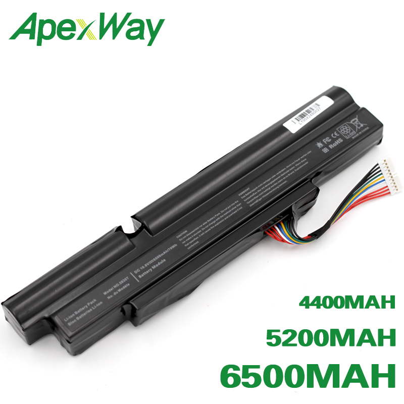 ApexWay battery for Acer Aspire TimelineX 3830T 4830T 5830T 3830TG 4830TG 5830TG 3INR18/65-2 <font><b>AS11A3E</b></font> AS11A5E image