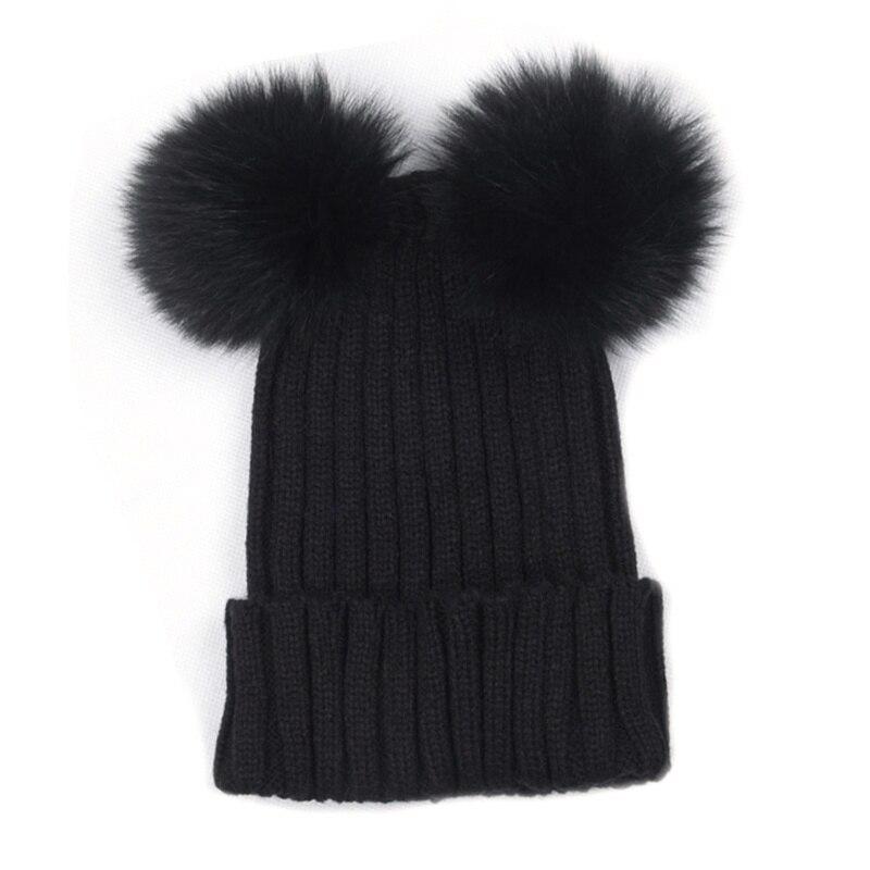 Модные Обувь для девочек Плетеный крючком шерсть вязать шапочки Берет лыж мяч Кепки Багги женская зимняя теплая шапка