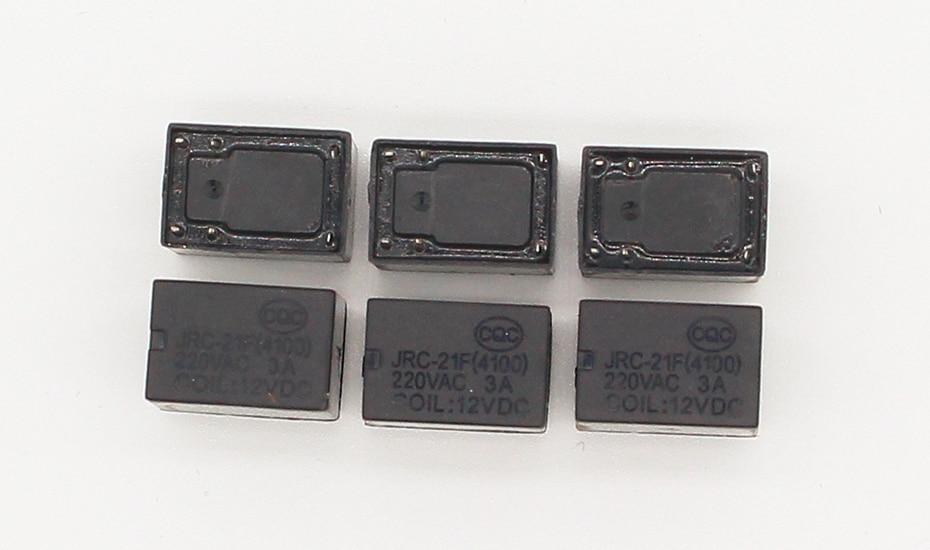 ------3V 2 Pieces -- BLACK  Miniature PCB Relay JRC-21F 4100 DC 3V 6 Pins c14
