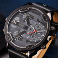 Famous Designer Mens Watches Top Brand Luxury Quartz Watch XINEW Leather Strap Big Face Military Clock Date relogio masculino dz