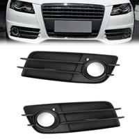 Areyourshop 1 Pair Matte Black Front S Line Bumper Fog Light Grille For Audi A4 B8 2008 2012 Bumper Fog Light Grille Car Parts