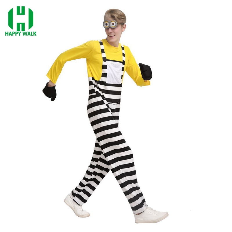 2019 New Arrivel Halloween Party Cosplay Costumes Minion Costume Despicable Costume Minion Costume For Adult Free Shipping