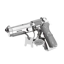Nanyuan 3D Metal Puzzle Beretta 92 oružje oružja Model DIY Laser Cut Sklopite Jigsaw igračke Desktop ukras GIFT za reviziju