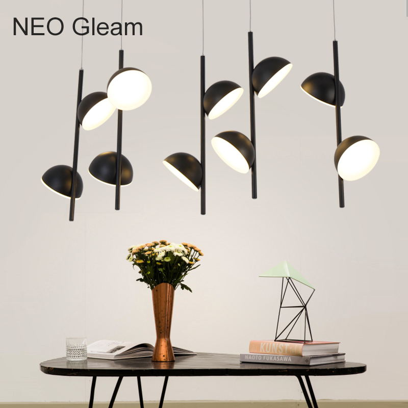 NEO Gleam DIY Modern LED living dining room pendant lights suspension luminaire suspendu Hanging lamp fixture lamparas colgantes neo gleam new arrival led pendant lamp for dining kitchen room bar pendant lights lamparas colgantes aluminum white ac85 265v