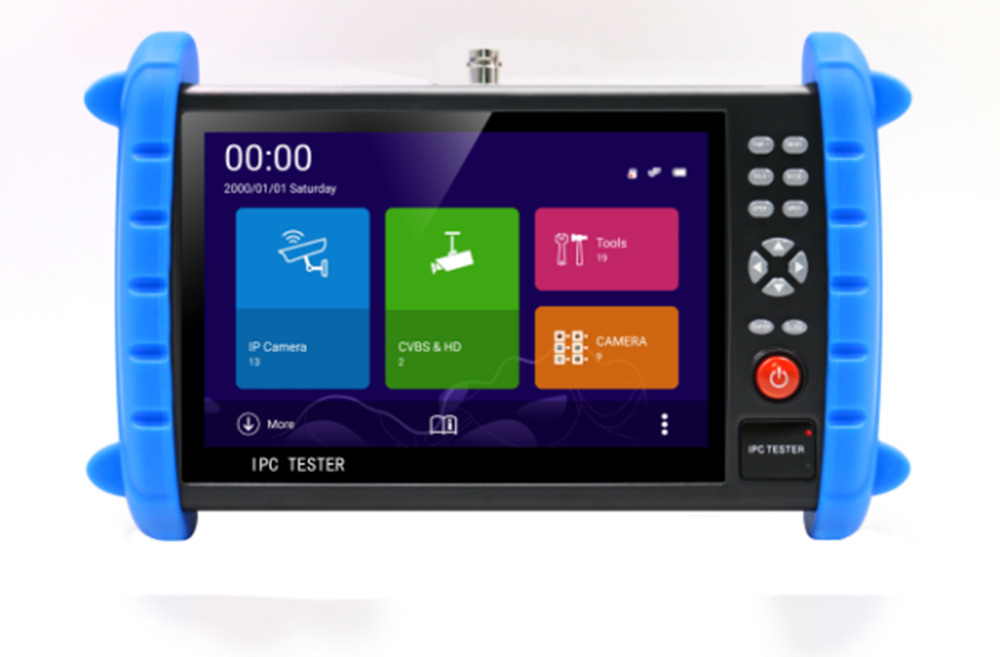 7 Inch 5 In 1 H.265 4K HD CCTV Tester Monitor AHD CVI TVI CVBS IP 5M 4M HDMI In Rapid ONVIF WIFI  UTP 5V 12V 24V POE Output
