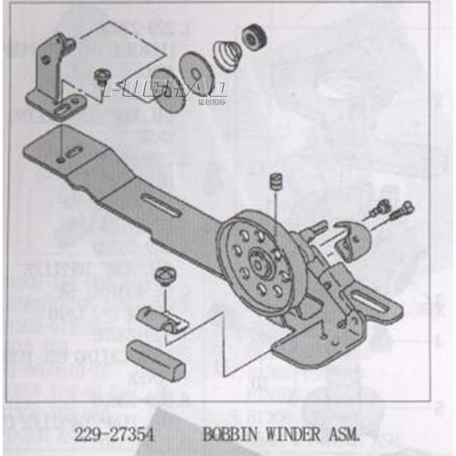 229 27354 bobina WINDER ASM pequeña rueda bobinadora de hilo para ...