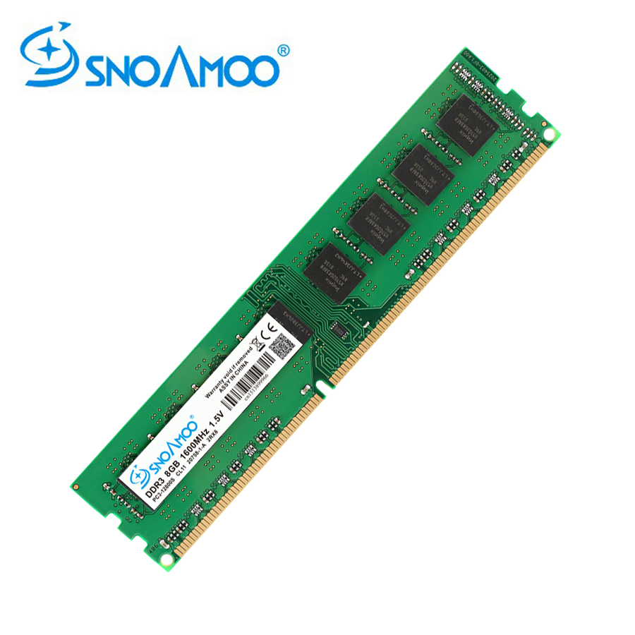 SNOAMOO New Desktop PC DDR3 4GB 1333/1600MHz PC3-12800S Memory 240pin DIMM 8GB 1333/1600MHz For Intel Computer Lifetime Warranty цена