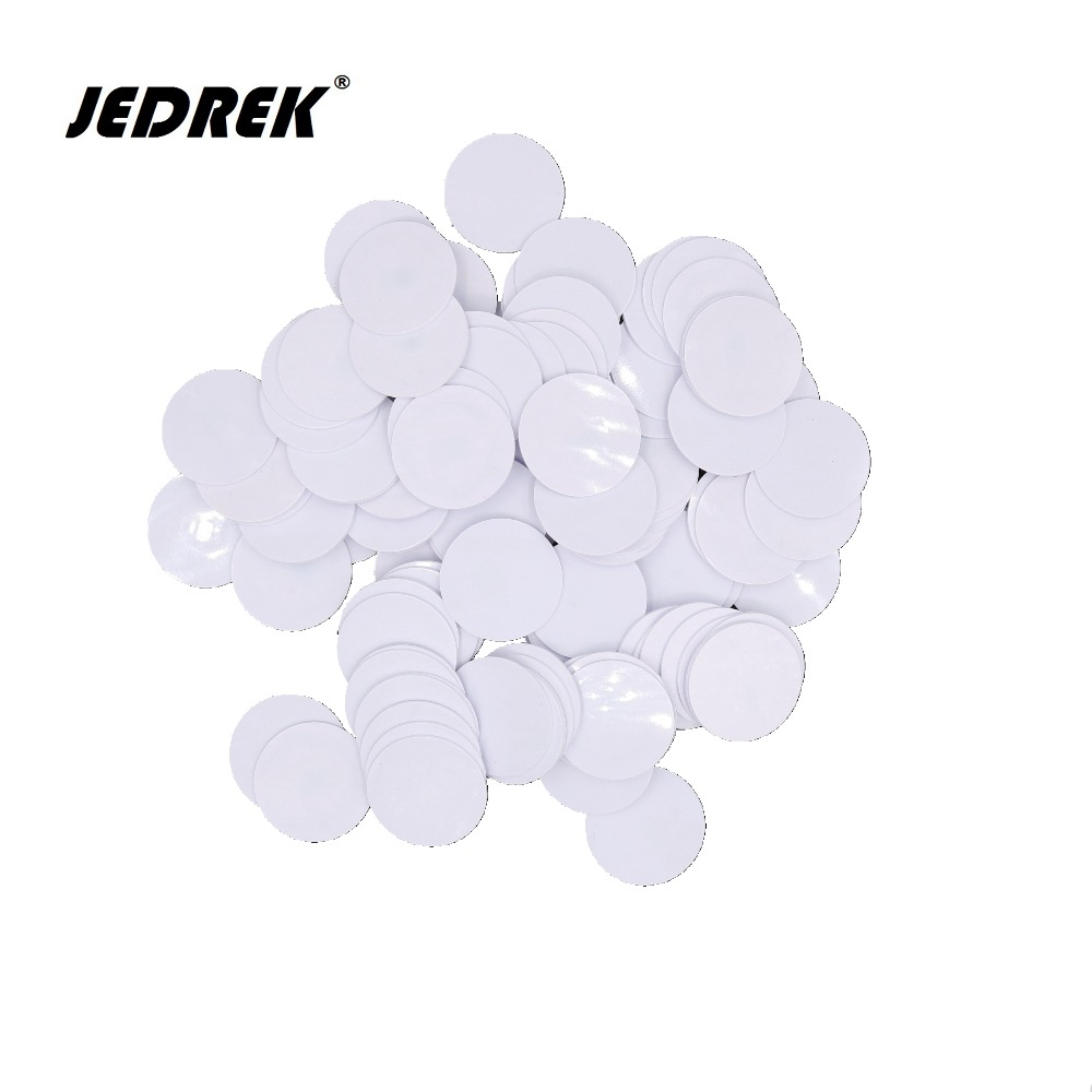 25MM 100pcs/lot Rfid Tag 125K ID Coin card EM4100 RFID 125KHz ID tag keyfobs token for Access control free shipping waterproof 10pcs 125khz rfid proximity id card em4100 keyfobs access control card rfid tag crystal
