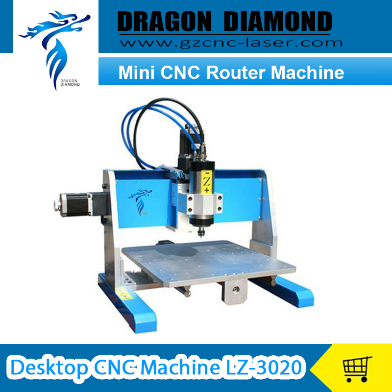 3 Axis CNC Water Cooling Spindle Motor ball screw Mini CNC Router Machine Desktop CNC Machine LZ-3020 free shipping cnc spindle motor 300w spindle motor air cooling spindle dc motor engraving machine er11 collets for wood router