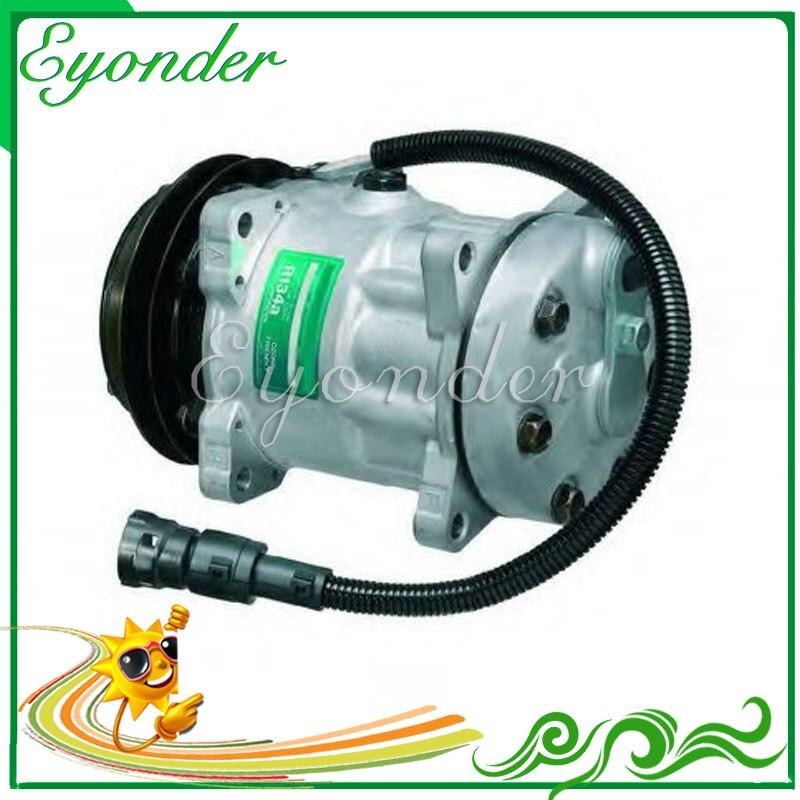 A/C Air Con compresseur pompe de refroidissement SD7H15 pour camion DAF 24 V 95 XF CF 85 95 75 1638737 1638737R 1264800 1444295 1251063 SD8051
