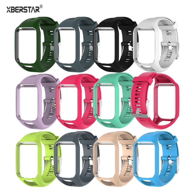 XBERSTARสายรัดข้อมือสำหรับTomTom Runner 2 3สายนาฬิกาสำหรับTomTom Sparkนักกอล์ฟAdventurer Spark 3 GPS Watch TPE
