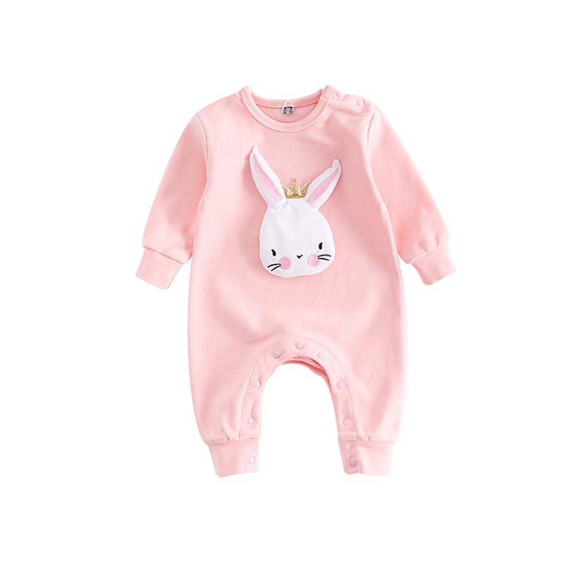 c3ee59415e9e Buy Autumn Newborn Baby Clothes Cartoon Rabbit Baby Rompers Long ...