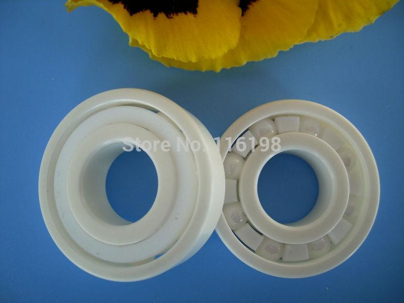 6204 full ZrO2 ceramic deep groove ball bearing 20x47x14mm P5 ABEC5 6901 full zro2 ceramic deep groove ball bearing 12x24x6mm open type p5 abec5
