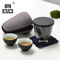 TANGPIN ceramic teapot gaiwan teacups chinese teasets portable travel tea set with travel bag