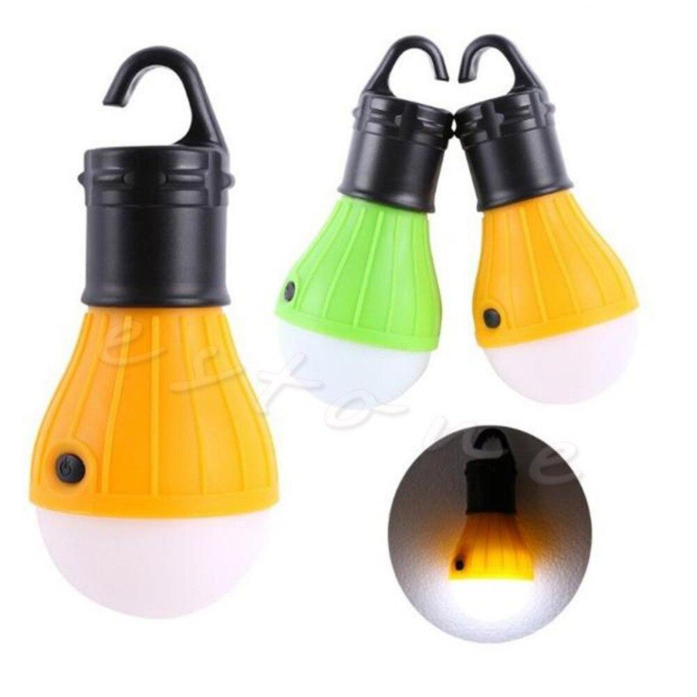Outdoor Hanging LED Camping Tent Light Bulb Fishing Lantern 3x LED Lamp  Torch(China (