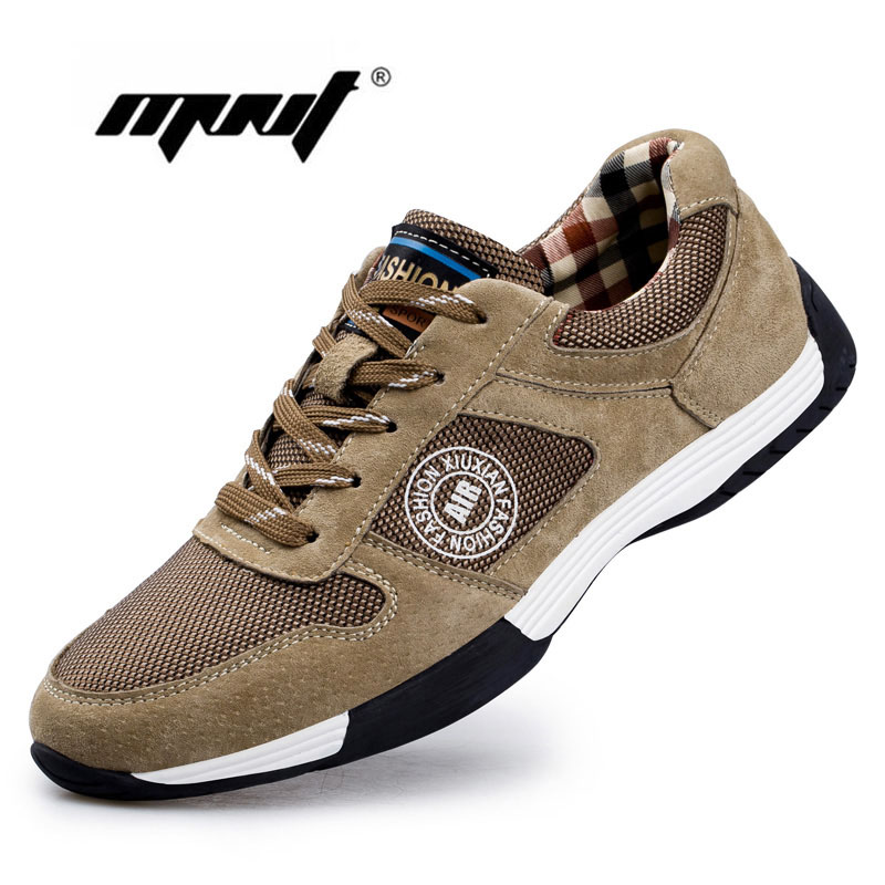 ФОТО Fashion Breathable Men Shoes,Suede Leather With Mesh Men Casual Shoes, Luxury Shoes Men Outdoor Walking Shoes Zapatillas Hombre