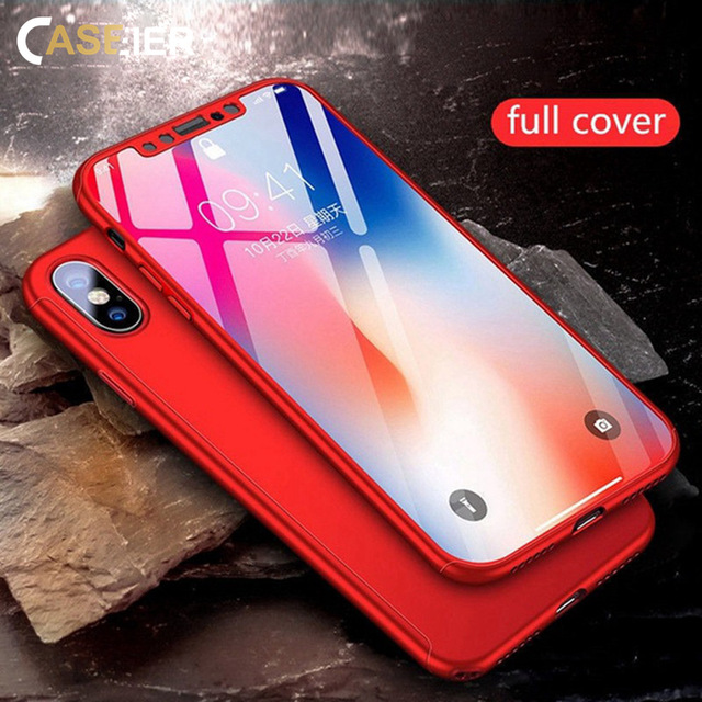 CASEIER 360 full Cover For xiaomi redmi 6 6 pro 7 Case Glass for Xiaomi Redmi 4X note 5 Plus 6 pro 7 Mi 8 lite Case Funda