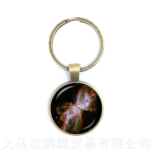 Nebula Space Keychains Astronomy Geek Pendant Sci-fi Science Galaxy Space Glass Dome Keyring Gift For Friends 3