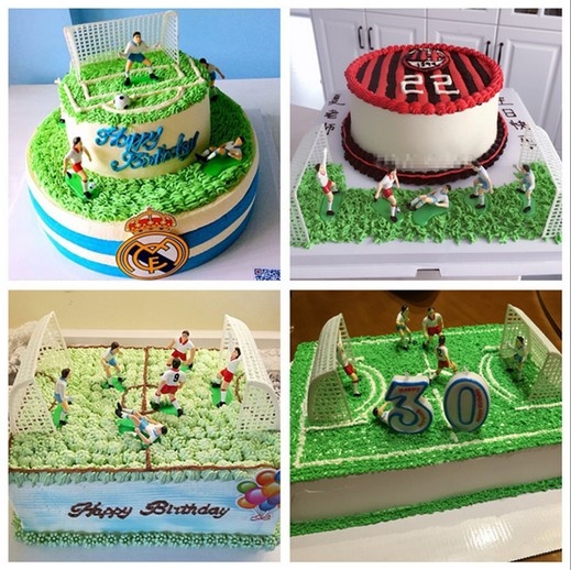 Soccer Football Cake Topper Set Decorations Birthday Party Decorating Team Scene