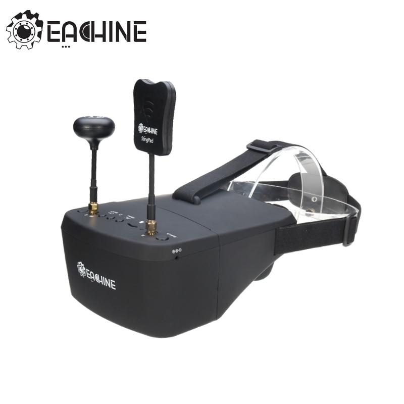 Auf Lager!! Eachine EV800D 5,8G 40CH 5 Zoll 800*480 Video Headset HD DVR Vielfalt FPV Brille Mit Batterie Für RC Modell