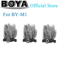BOYA BY B05 Professional Furry Windshield Windscreen Set for BY M1 Microphone (3 Pack)