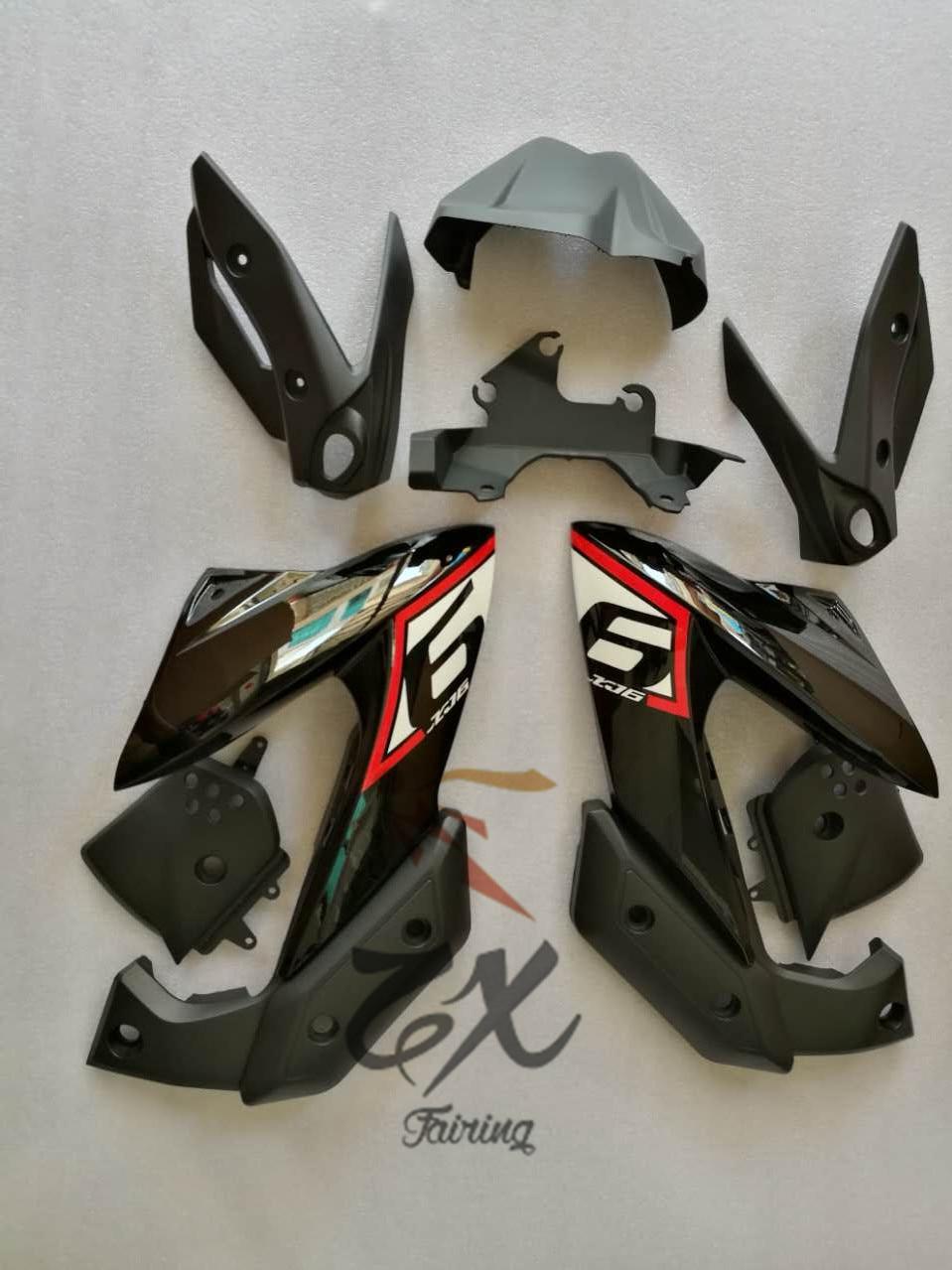 Motorcycle  ABS Plastic Injection Fairing Kit Bodywork Unpainted Bodywork Fairing For Yamaha XJ6 2009-2012 09 10 11 12 Good