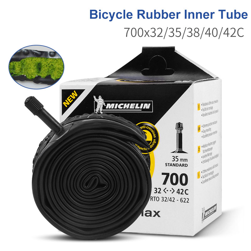 Thorn Resistant Bicycle Inner Tube 700 X 25C//32C//42C Schrader 33mm or 48mm Bikes