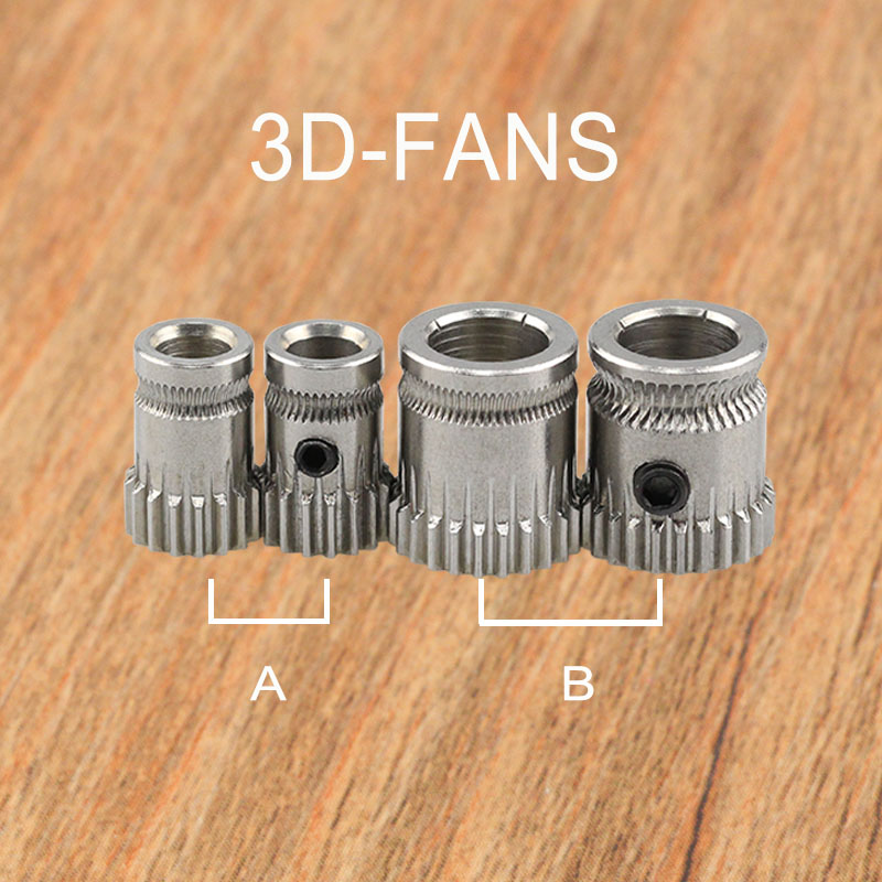 1Pc 3D Printer Prusa I3 MK2/MK3 Cloned Btech Dual Gears DIY Prusa I3 Steel Pulleys Bore 5mm 3D Printer Gears Extrusion