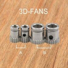 1 Pc 3D Yazıcı Prusa i3 MK2/MK3 Klonlanmış Btech Çift Dişliler DIY Prusa i3 Çelik Kasnaklar Bore 5mm 3D Yazıcı Dişliler Ekstrüzy...